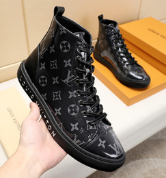 Boots warm up online shopping - Men Boots Leather Ankle Boots Fashion Winter Warm Lace Up Casual Shoes with Origin Box High Top Bottes Hommes M Fashion Shoes Mens