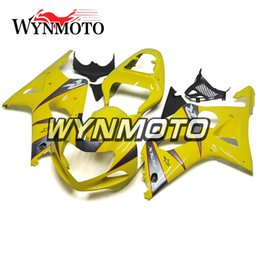 $enCountryForm.capitalKeyWord UK - Light yellow Grey Strips ABS Plastic Injection Motorcycle Fairings For Suzuki GSXR1000 K1 K2 2000 2001 20002 Cover gsxr 1000 motorcycle cowl
