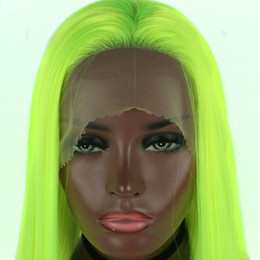 $enCountryForm.capitalKeyWord NZ - Synthetic Lace Front Wigs Light Green Straight Cosplay Drag Queen Party Wig Heat Resistant Fiber Hair