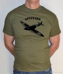 2018 Nieuwe Korte Mouw O-hals Casual Katoen T-Shirt Comfortabele Spitfire Vliegtuig Vlucht Ww2 Grappige T-shirt venda por atacado