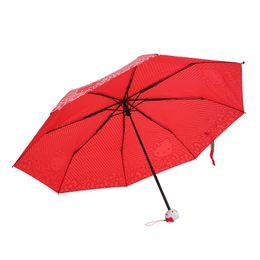 $enCountryForm.capitalKeyWord NZ - 1PC Striped Umbrella Automatic Umbrella Vinyl Triple Folding Cute Girl 55D
