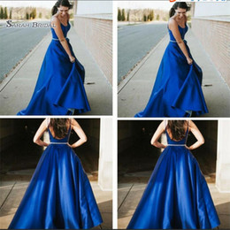 $enCountryForm.capitalKeyWord Australia - 2019 V-neck Backless A-line Taffeta Waist Beads Sleeveless High End Quality Evening Party Dress Hot Sales