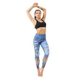 $enCountryForm.capitalKeyWord UK - Yoga Pants New Fashion Trendy Clothing Women Fitness Workout Running Gym Slim Digital Print High Waist Leggings Blue 9562