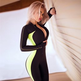 Fitness Jumpsuit For Women Australia - Normov Fitness Jumpsuits Gym Clothing Two Piece Yoga Set Casual Tracksuit Stripe Sport Suit Women Workout Clothes For Wome C19040301