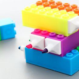 Funny Blocks Australia - Funny Block modeling Highlighter Pen Marker Pens Kawaii Stationery Material Escolar Papelaria Writing School Supplies gift diy