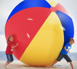 Large Inflatable Pools Australia - 150cm Inflatable Beach Pool Toys Water Ball Summer Sport Play Toy Balloon Outdoors Play In The Water Beach Ball Fun Gift free Shipping