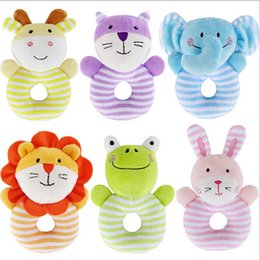 Wholesale Stuffed Animals Soft Plush Rattle Toys Boys Girls Cuddle Toddler Infant Baby Toy