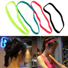 $enCountryForm.capitalKeyWord Australia - Women Men yoga hair bands Sports Headband Anti-slip Elastic Rubber Sweatband Football Yoga Running Jogging biking dancing