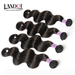 soft tangle free weave Australia - Unprocessed 9A Peruvian Virgin Hair Body Wave 100% Human Hair Weave Bundles 4Pc Natural Color DYEABLE SOFT THICK TANGLE FREE Hair Extensions