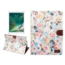 $enCountryForm.capitalKeyWord Australia - Floral Fabric Leather Case Smart Cover with Wallet Slot for Apple iPad Air 10.5 2019 for iPad Pro 10.5 Tablet +Stylus