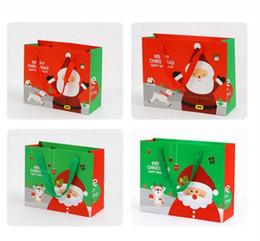 Green Plastic Gift Bags Australia - 2 Sizes Christmas Santa Claus Gift Bag Small  Medium Size 15*15cm  24*20cm