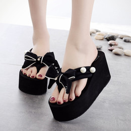 $enCountryForm.capitalKeyWord Australia - Hot Sale-2018 New Shoes Woman Summer Flip Flops Super High Heel Wedges Women Slippers Ladies Designer slides platform shoes terlik