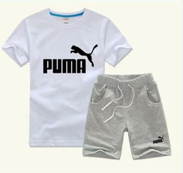 t shirts stamps Australia - 2018 new hot stamping letters boys set children's T-shirt pants children cotton set girls summer shirt baby sports suit 2 pieces   suit