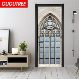 $enCountryForm.capitalKeyWord UK - Decorate Home 3D church wall door sticker decoration Decals mural painting Removable Decor Wallpaper G-788