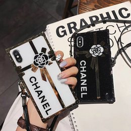 Wholesale Printed Flower letter mobile phone case for iphone Xs max Xr X plus plus plus TPU soft side hard back cover with lanyard
