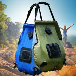 $enCountryForm.capitalKeyWord Australia - NEWEST!!!Solar bathing bag Outdoor self-driving camping hot water bottle Portable outdoor drying bath water storage bag 20L