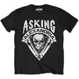 Dry Pack Shipping NZ - Asking Alexandria Men's Tee: Skull Shield (Retail Pack) (XX-Large) Men Women Unisex Fashion tshirt Free Shipping Funny Cool Top Tee Black
