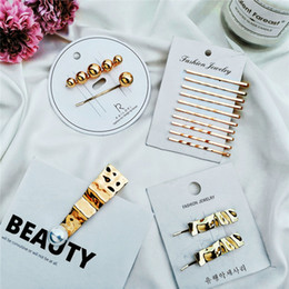 $enCountryForm.capitalKeyWord Australia - 2019 New Fashion Waved Metal Hairpins Bobby Pins Barrettes Wedding Bridal Hair Clips Hair Jewelry Accessories YMCJH007