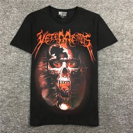 Trends Clothing Australia - 2019 latest best Quality VT Skull Printing from Milan Summer clothes Short sleeved Fashion Trend JOKER T-SHIRTS TOPS