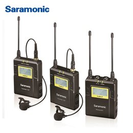 Dslr Camera Microphone Australia - Saramonic UWMIC9 Broadcast UHF Camera Wireless Lavalier Microphone System Transmitters +One Receiver for DSLR Camcorder