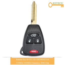 key fob dodge 2020 - KEYECU Remote Control Car Key for Dodge Avenger Charger for 200 Sedan 300C PT Cruiser, Fob 3+1 4 Button - OHT692427AA di