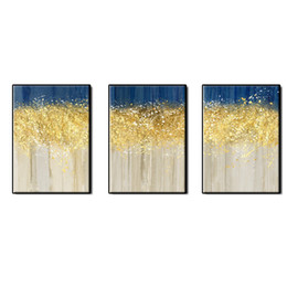 $enCountryForm.capitalKeyWord UK - Beautiful picture abstract wall art home decor 3 pieces Hand-painted gold plating Abstract Oil Painting on canvas for living room no framed
