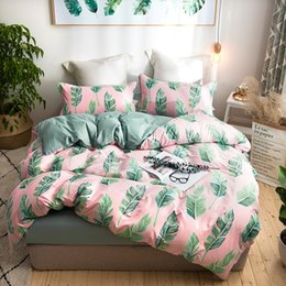 $enCountryForm.capitalKeyWord Australia - Fashion Pink Love Duvet Cover Sets Home Textile Bedclothe 4Pcs Bedding Sets King Queen Full Double Twin