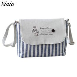Navy Striped Bags NZ - Cheap Fashion Women Handbag Girls Striped Cotton  Cute Shoulder Bags Letters f934bdb7bf451
