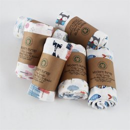 Scarfs Cotton Australia - Muslin Pure Cotton Gauze Bath Towel Baby Newborn Children Scarf Garden Cart Chair Blanket Cartoon Animals zhao