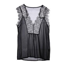 $enCountryForm.capitalKeyWord UK - Blusas Femininas Summer Women Blouse Lace Vintage Sleeveless White Crochet Casual Shirts Tops