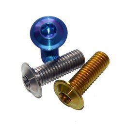 $enCountryForm.capitalKeyWord NZ - Titanium Alloy Bolts M8 x 20mm Grade 5 Umbrella Socket Headed Screws for Racing Motorcycle Titanium Screws Fasteners 2 PCS