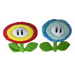 Wholesale Super Mario Plush Toy Stuffed Dolls Game Animation Series Red Flame Sun Flower Blue Ice Flowers sy O1