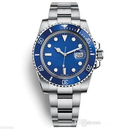 StainleSS Steel Sub online shopping - 2019 Master Mens Watch MM SUB Blue dial Automatic Mechanical Stanless Steel Fashion Sport Self wind Watches Wristwatches