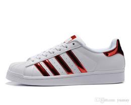 Discount drop shipping shoes - 2019 Spring and Autumn Fashion Men Women Super Shoes Golden Drop Shipping Size 36-44 Skateboarding Shoes Flat Sport Shoe