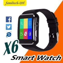 $enCountryForm.capitalKeyWord Australia - X6 Smart Watches With Camera Touch Screen Wristband SIM TF Card Bluetooth Smartwatch For Iphone X Samsung s9 Android Phone