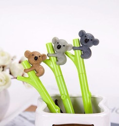 Stationery Australia - 1pcs 0.5mm Creative Cute Koala Black Ink Gel best Signing Writing Tool School Office Supply Student Stationery