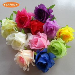 $enCountryForm.capitalKeyWord Australia - 11colors 100pcs 8CM Aritificial Silk Rose flower heads DIY wedding wall Arch Backgrand shooting props flower arrangement home decorative