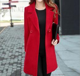 1e4e607eebf Plus Size 4XL Spring red Long Jacket Female Coats Blazer Feminino Long  Sleeve One Button Women Small Suit Jackets Office Blazers Y18110701