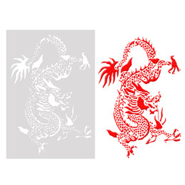 $enCountryForm.capitalKeyWord Australia - 26*18cm DIY Craft Dragon Pattern Reusable Art Stencils Template For Wall Painting Scrapbooking Stamping Album Decor Embossing Cards