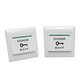 Venta al por mayor de 2pcs Puerta de salida de lanzamiento del empuje del botón del interruptor de control de acceso magnética bloqueo de la puerta