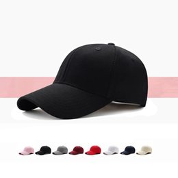 Sun capS for girlS online shopping - Summer solid colors hat men women sun caps unisex baseball cap outside spring new fashion hats for differente colors