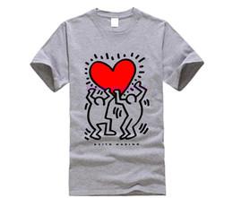 $enCountryForm.capitalKeyWord Australia - Keith Haring Heart T Shirt - City Pop Street Art Valentine's Day Funny Tee Shirt Hipster Summer