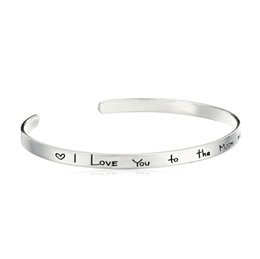 fish jewelry UK - Amazon foreign trade Factory direct sales speed through the new jewelry alloy simple letter inspirational lettering bracelet jm002