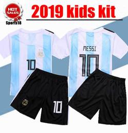 kids kit Argentina World Cup MESSI DYBALA youth child boy home Away soccer  jersey AGUERO DI MARIA HIGUAIN 2018 Children football shirts 5a97b9dc4