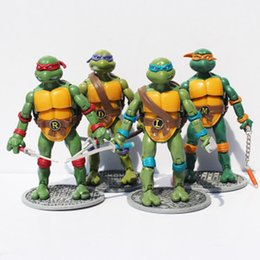 Turtles Figures Australia - New Free Shipping 4pcs  lot Toys Action & Toy Figures Turtles Model Animation Furnishing Articles Q190605