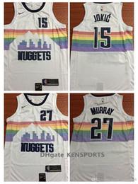 City style 2019 Men Nets Denver Basketball Jerseys 15 Jokic 27 Murray City  style ALL Stitched Jerseys White 66b49b397