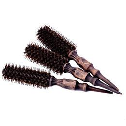 $enCountryForm.capitalKeyWord UK - Dropshipping 3pcs set 3 Sizes Natural Bristle Hair Rolling Comb Straight Hair Caring Hairbrush Air Cling Bang Curling Brush 1165