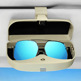 414ebdd557c nterior Parts Sun Visors Car Sun Visor Glasses Storage Box Multifunction Auto  Sunglasses Cards Tickets Holder Case Organizers Clips Inter.