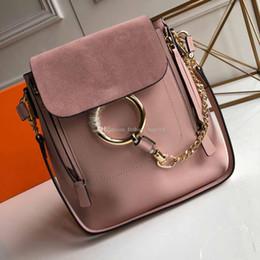 Shoulder Straps Backpack NZ - 2018 New Fashion Backpack Women Designer Backpack Strap Shoulder Travel Shopping Bag Big Ring Schoolbag leather Mini Backpack Women Handbags