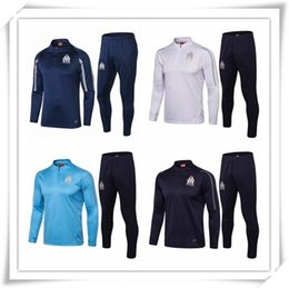 dce55e7ad 2018 19 Marseille Soccer Sets High quality embroidery Breathable fabrics  Cheap Sportswear Adult shirt Football training suit